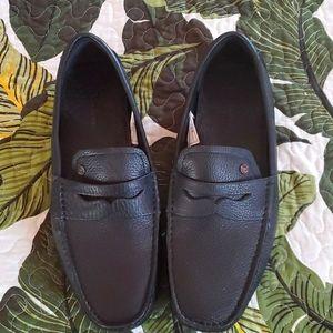 Men's Ugg Black Leather Loafers